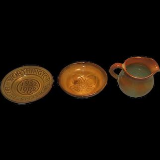 Three Nicodemus Pottery Pieces