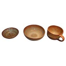Three Pieces Chester Nicodemus Pottery