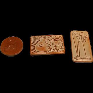 Three Pottery Christmas Cards Chester Nicodemus