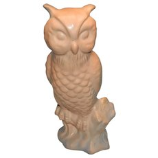 Van Briggle Pottery Dusty Rose Owl Figurine