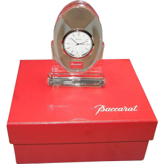 Baccarat Crystal Clock Original Box