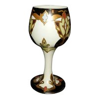 Stunning Belleek Willets Vase Artists Initials