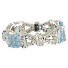 Diamonds Topaz White Gold Eternity Ring