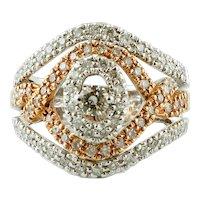 Diamonds, 18k White & Yellow Gold, Vintage Ring