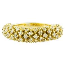 18k Yellow Gold, Diamonds, Band Ring