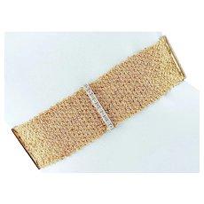 Diamonds, 18k White and Yellow Gold Bracelet