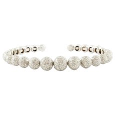 Diamonds, 18k White Gold Beaded Bracelet