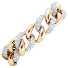 Diamonds, 18k White and Rose gold Chain Bracelet