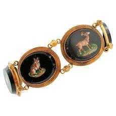 Victorian Age, Italian Micromosaic, Onyx Bracelet