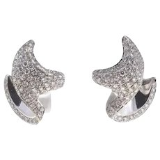 Handcrafted Earrings Luise Diamond White Gold