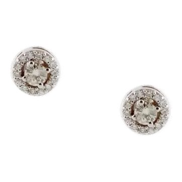 Diamonds 18 Karat White Gold Stud Earrings
