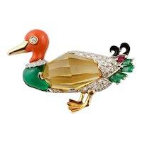 Roberto Legnazzi Duck Brooch