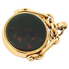 Victorian Bloodstone and Carnelian Swivel Fob