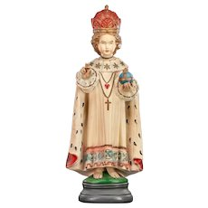 "Infant Jesus of Prague Plaster Statue | Santo Nino / Child Christ /| Child of Prague / Jesus de la Praga / Prazske Jezulatko | 25"" Large"