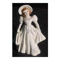 Florence Ceramics Flower Holder Girl Holding Skirt