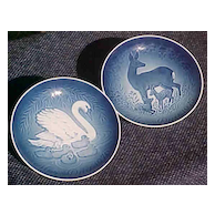 Bing and Grondahl Mother's Day Plates 1975 and 1976