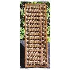 Japanese Soroban (Abacus) - Vintage Wood Counting Tool