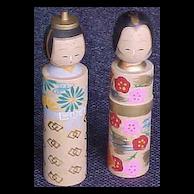 Kokeshi  Dolls  2 -  Vintage