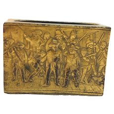 14k Gold-Plated Antique German Matchbox Cover