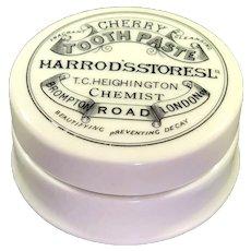 Harrod's Stores Cherry Tooth Paste Decorative Porcelain Pot
