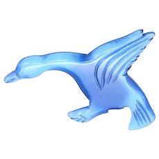 Vintage 1930's Catalin Blue Lucite Goose Brooch