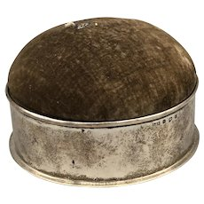 Antique Levi & Salaman Sterling Silver Box Pincushion