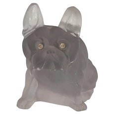 French Bulldog Faberge Copy Glass Clear