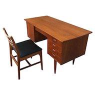 Mid Century Modern Teak Desk & Chair
