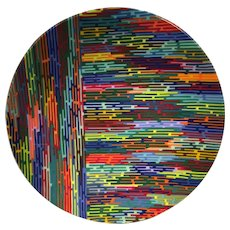 Martin Kremer Fused Rainbow Glass Sculpture
