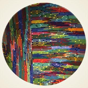 Martin Kremer Fused Rainbow Glass Sculpture