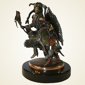 C.A. Pardell 'DRUM SONG' Bronze Mixed Metal Sculpture