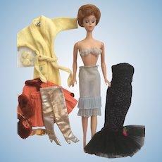 Miss Barbie Doll Plus Vintage Fashion Lot
