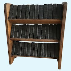 Antique complete miniature collection of Shakespeare's works