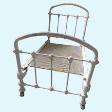 Antique Victorian cast iron Dolls bed