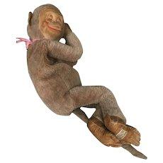 Sweet vintage Merrythought monkey pyjama case