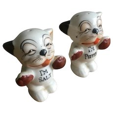 Pair of vintage Bonzo salt and pepper pots
