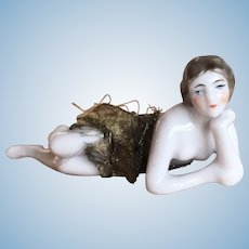 Pretty antique bathing belle