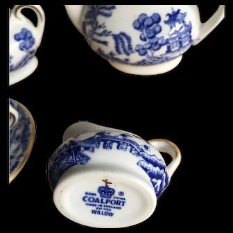 Vintage Coalport bone China dolls tea set for one
