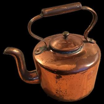 Antique 19th century miniature copper dolls kettle