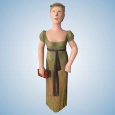 Very rare wooden suffragette carved figure circa 1910
