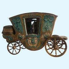 Stunning antique French miniature Cinderella coach