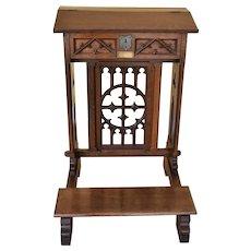 Victorian Oak Praying Lectern-reading stand