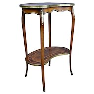 19th Century Victorian Walnut and Brass Mounted Occasional Table