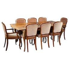 20th Century Burr Walnut Dining Suite by H&L Epstein