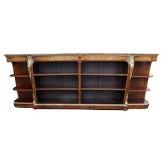 19th Century English Victorian Walnut Credenza