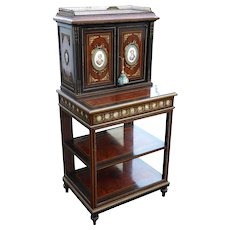 19th Century Amboyna and Ebony Cabinet