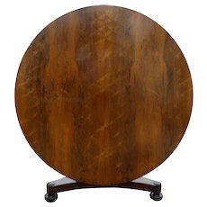 19th Century Victorian Rosewood Circular Dining Table