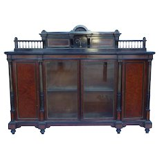 19th Century Ebony and Amboyna Credenza by Gillow