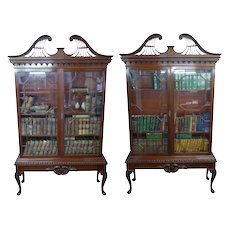 Pair of Chippendale Style Mahogany Bookcases