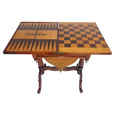 19th Century Victorian Rosewood Games Table